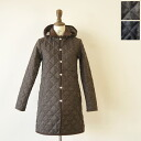 lavenham lavenham halstead shetland tweed / detachable hood Tweed quilted coat (2 colors) (XS, S, M, L)