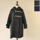 mizuiro ind. Blue India wool A ラインダッフル Court, 3 - 27015・4 - 22015 (2 colors) (free)