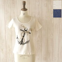 denicher デニシェ anchor print cotton t-shirt & ur-1963 (2 colors) (M)
