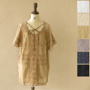 Mao made マオメイド India cotton embroidery blouse-111305 (6 colors) (M)
