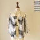mizuiro ind. Blue India cotton border drape Cardigan-1-25100 (2 colors) (free)