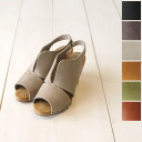 Sanita sanitat design cut oil & brushed leather ウッドヒール Sandals & 453208.455008 (6 colors)