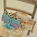 PITI cuiti ピティクティ Leopard & Python pattern leather 2-way clutch bags & 5323200949 (2 colors)