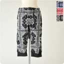 GRAMICCI pants BANDANNA LIB SHORTS and bandanna patterns リブショーツ gmp-13s010 (3 colors) (S, M, L) (unisex)