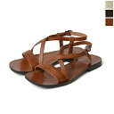 IL BISONTE イルビゾンテ leather strap flat sandals and 5432300260 (3 colors)