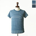 REMI RELIEF レミレリーフ Indigo Jacquard border pocket T shirts, rn13129046 (2 colors) (S, M, L)