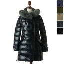 DUVETICA duvetica down / vest EFIRA Grey Fur-Fox / Ephyra fox fur ultra shiny down coat-5334110802 (FEN 32-D.2580.00/1035.R-FGG) (5 colors Women's) (M, L, LL)