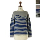 All KATO`-navy&ground- Cato navy & ground winding horizontal stripe knit / sweater, nn330831( four-colored )(unisex)
