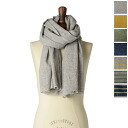 PRIT pret solid & border ウールリネン gauze scarf-00441.00442 (7 colors) (unisex)