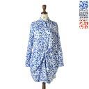 Munich Munich Re lyocell / cotton broadcloth プリントシャツワン piece-mn141n08 (3 colors) (free)