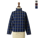 10 / 15 up to 11:59! SACRA cherry satin check turtle knit and se638011 (3 colors) (M) [10P12Oct14]