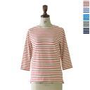 PRIT prete 8 / 1 licyclemura yarn tenjiku border 3 / 4 sleeve cutsaw-91510 (5 colors) (M-L)