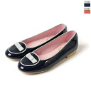 Bisue: ビスー ENBU Ribbon piping flat shoes, SS0601 5343000202 (2 colors)