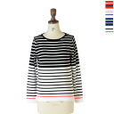 Le Melange ル melange color horizontal stripe cotton knit .6412003 (all four-colored )(free))