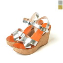 FABIO RUSCONI ファビオルスコーニ MIRROR / mirror コルクウェッジ cloth sandals and ALI298 (2 colors)