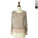 IERI EPISODIO イエリエピソディオ バックビ Jeux button Leopard pt puff sleeve knit, 181-209 (3 colors) (free)