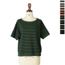 PRIT pret 30 / 1 リサイクルムラ yarn tenjiku border wide T shirt-92453 (7 colors) (M-L)