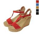 Calzanor カルザノール SERRAJE suede T strap espadrille sandal-s1662 (5 colors)