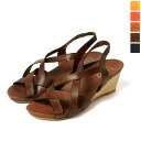 toloy Troy wedge sole leather Cross sandals-1339 (4 colors)