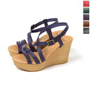 BIANCA Bianca fine leather strap wedge Sandals-4571 (5 colors)
