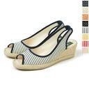 ISASA イササ wedge sole バックストラップエスパドリーユ, 5343001001 (4 colors)