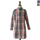 FRED PERRY Fred Perry Check Shirt Dress / tartancheckshatswan piece-f8226 (2 colors) (S & M)