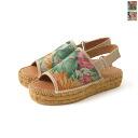 GAIMO Gaim OLEO / flower pt back strap espadrille Sandals (2 colors) [P19May15]
