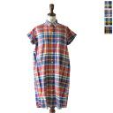 Gymphlex SimFlex Madras check shirt dress-j-1098bgm (4 colors) (M-L)