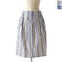Sabena Sabena yarn-dyed stripe MIDI skirt & pd8554 (2 colors) (M)