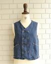 12 / 22 up to 23:59! d.m.G18-271a Domingo there / Irish linen denim vest