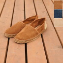 All GAIMO ガイモ human-ante/ suede X jute slip-on espadrille, human-a( three colors)