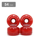 CALIFORNIA STREET WHEEL the wheel STREET STREAMER CLEAR, core, red 54 mm (soft)