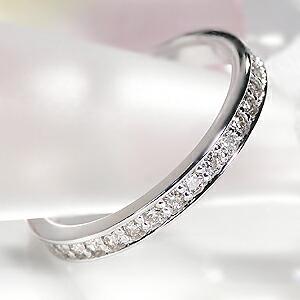 【あす楽対応】☆Pt950 ダイヤモンド フルエタニティリング
