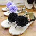 It is impossible of flower motif tong sandals (2496) ※ returned goods, exchange