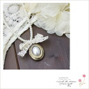 Sending ■ ■ lace Ribbon with antique Locket (-) 10 * returned goods cannot be exchanged