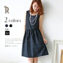 ≪Feeling of early percent ≫ Praise tension material no sleeve dress one piece (452-35,109)