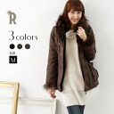 REAL CUBE raccoon fur & BOA collar cotton military coat (981410)