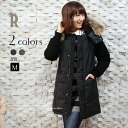 CYNICAL 2WAY different material toggle down jacket detachable hood with raccoon fur (452-94040)