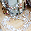a bestseller on Rakuten☆ beauty in sweety and maturity♪ a long necklace with big and small beads(019)