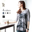 REAL CUBE BACK chiffon switchable print Chateau cute glasses t-shirt (D80130421) ★ ships