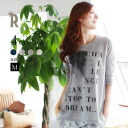 REAL CUBE BACK chiffon switch print Chateau sweet print profile t-shirt (D80130420) ★ ships