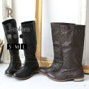 * REAL CUBE leather perforated boots (CB-05/1112-2)