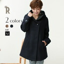 Praise Made In Japan WOOL cashmere coat ☆ oversized hood WOOL cashmere a-line (350-34711)
