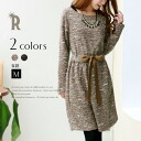 Praise winter のほの sweet dress ☆ boo clay ribbon gathers one piece (35338)