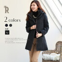 Leading role outer ☆ WOOL blend reversible down coat (84546) of Cloche 2WAY specifications