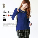 ☆ trend cable knitting knit pullover (312-28,257) which is indispensable to wearing of the moderate winter