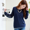 REAL CUBE slightly glittering watermark sleeve knit (M82131226)