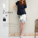 REAL CUBE vintage style print ☆ shading off floral design fleece pile sweat shirt skirt (D32140318)