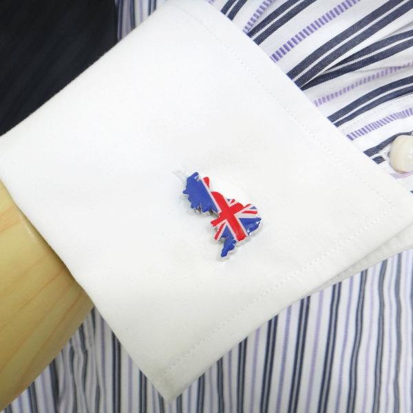 大不列颠岛的轮廓英格兰国旗袖扣袖扣和袖扣
