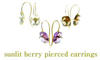 sunlit berry pierced earrings
